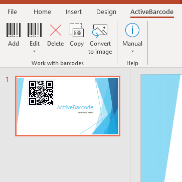 PowerPoint<br>Add-in de code à barres