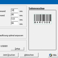 <br>Print one barcode